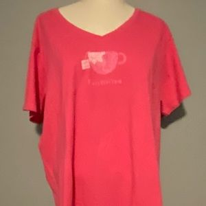 Woman's NWT Life is Good pink t-shirt.